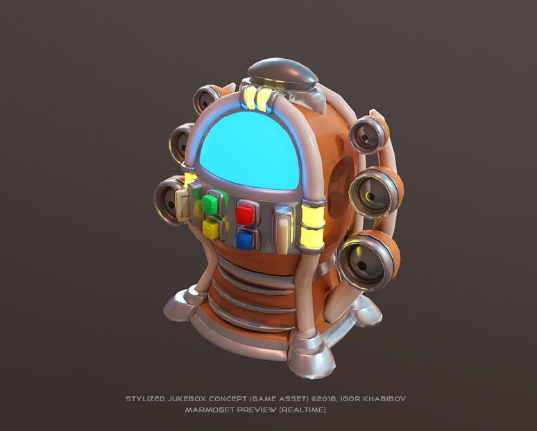 Stylized Jukebox Jukebox Shapes Concept 003 jpg