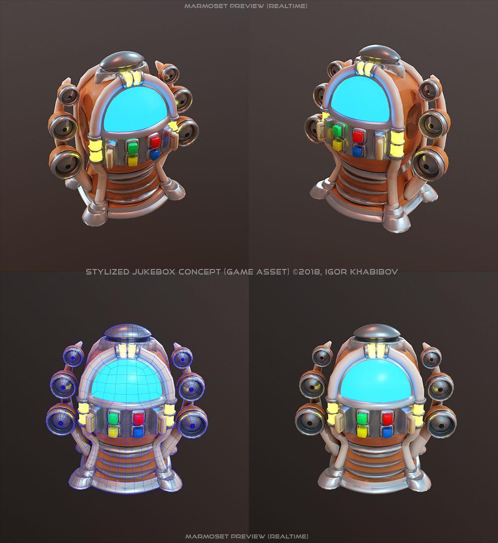 Stylized Jukebox Jukebox Shapes Concept 004 jpg