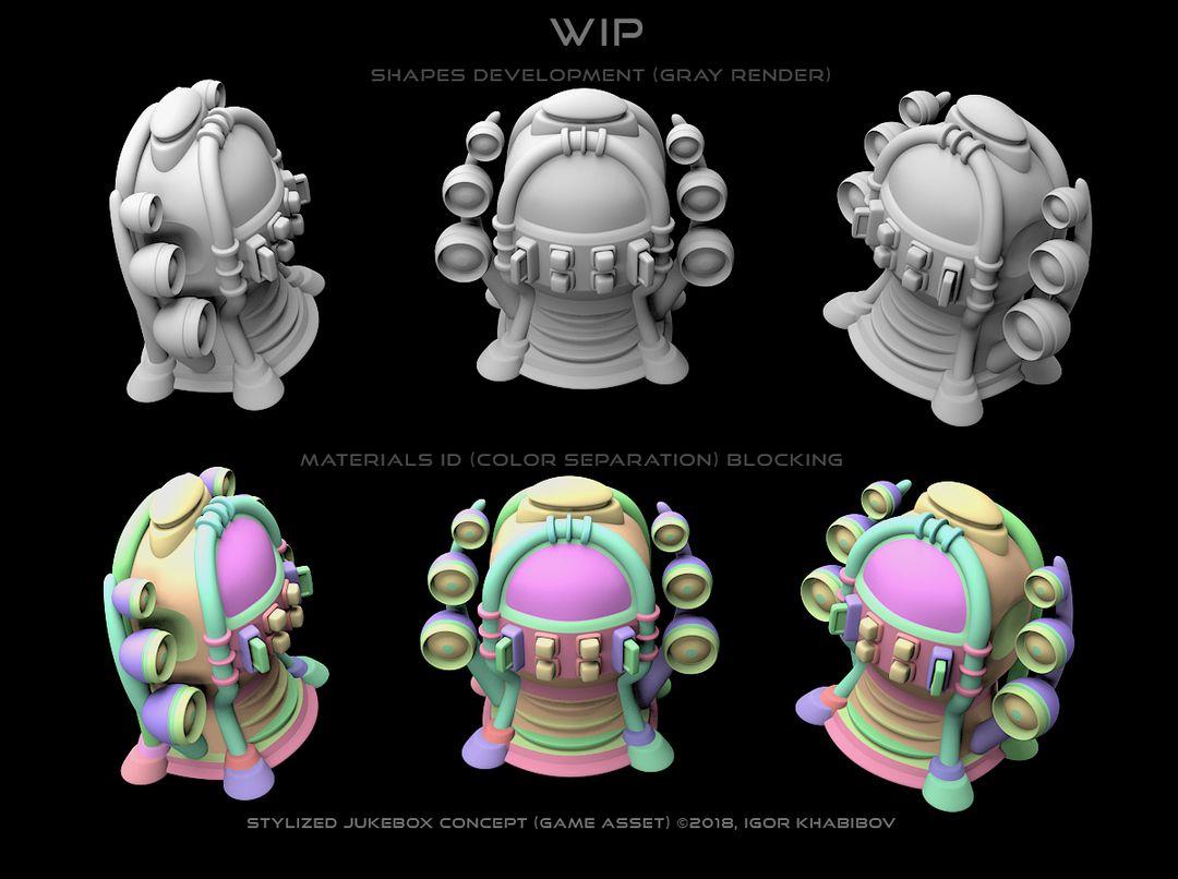 Stylized Jukebox Jukebox Shapes Concept 005 jpg