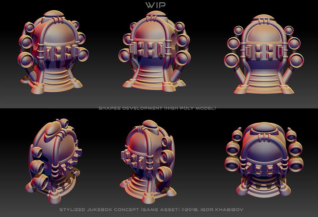 Stylized Jukebox Jukebox Shapes Concept 006 jpg