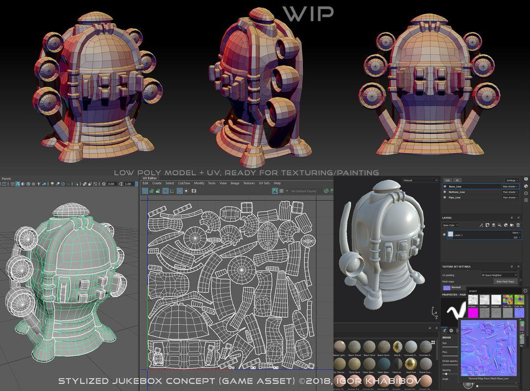 Stylized Jukebox Jukebox Shapes Concept 007 jpg