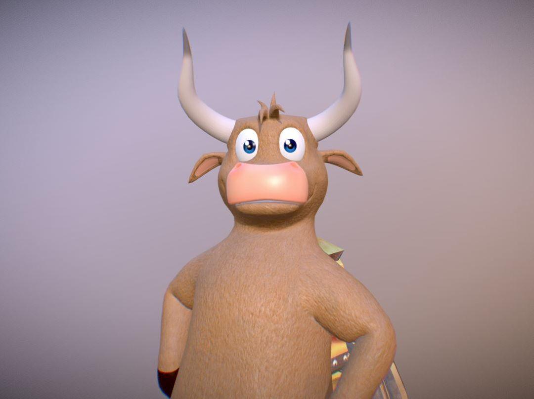 Toonish Character for Animation TORO jpg