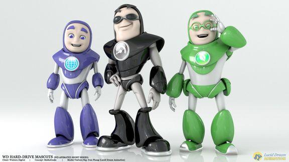 Western Digital Hard-Drive Mascots for Animated Shorts