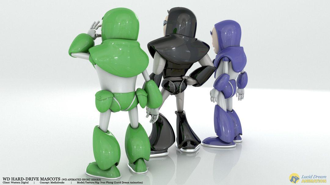 Western Digital Hard-Drive Mascots for Animated Shorts westernDigital mascot 02 jpg