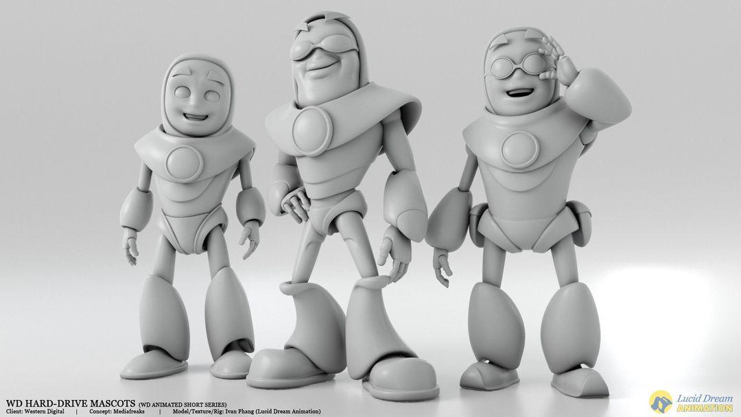 Western Digital Hard-Drive Mascots for Animated Shorts westernDigital mascot 03 jpg