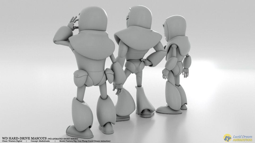 Western Digital Hard-Drive Mascots for Animated Shorts westernDigital mascot 04 jpg
