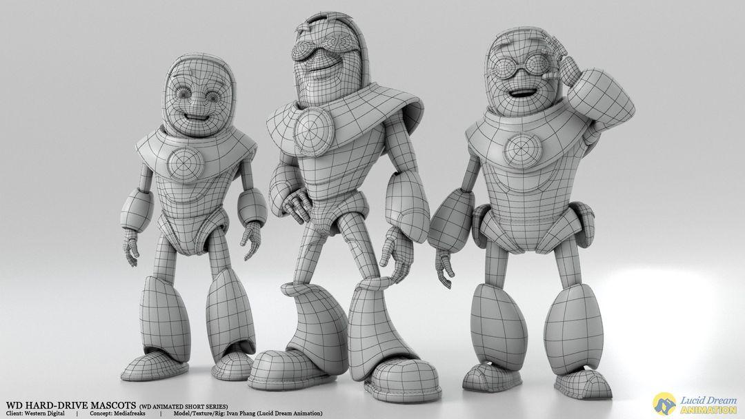 Western Digital Hard-Drive Mascots for Animated Shorts westernDigital mascot 05 jpg