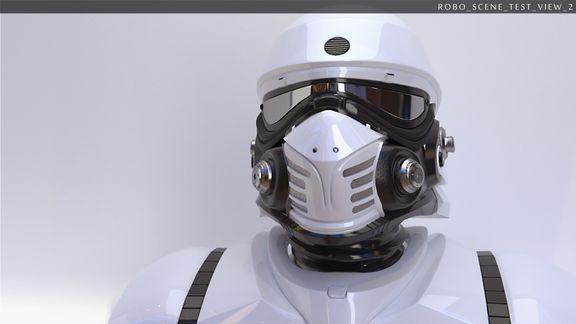 white robo suit