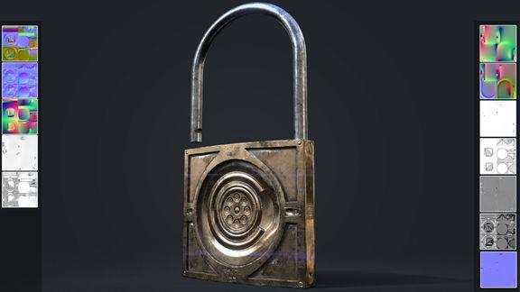 lock game art