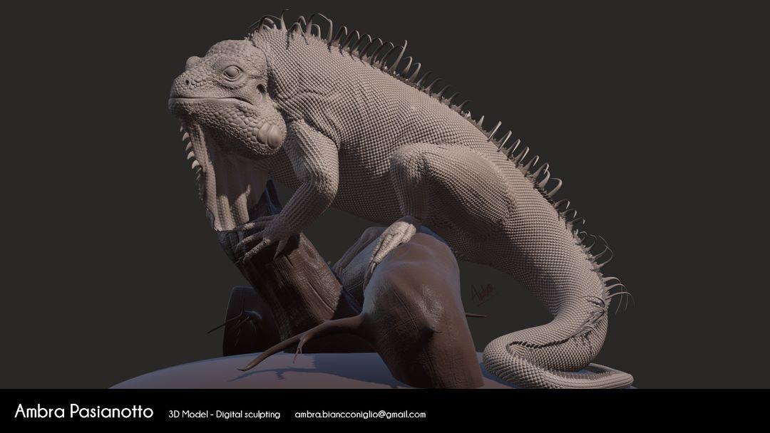Iguana - realistic project 01 jpg