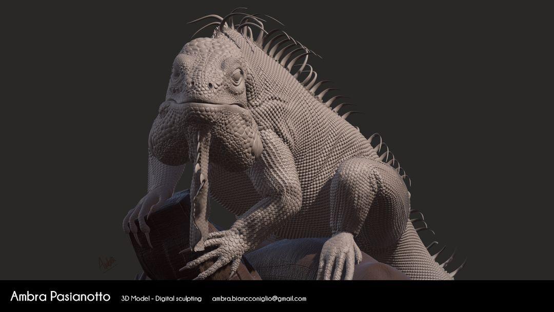 Iguana - realistic project 04 1 jpg