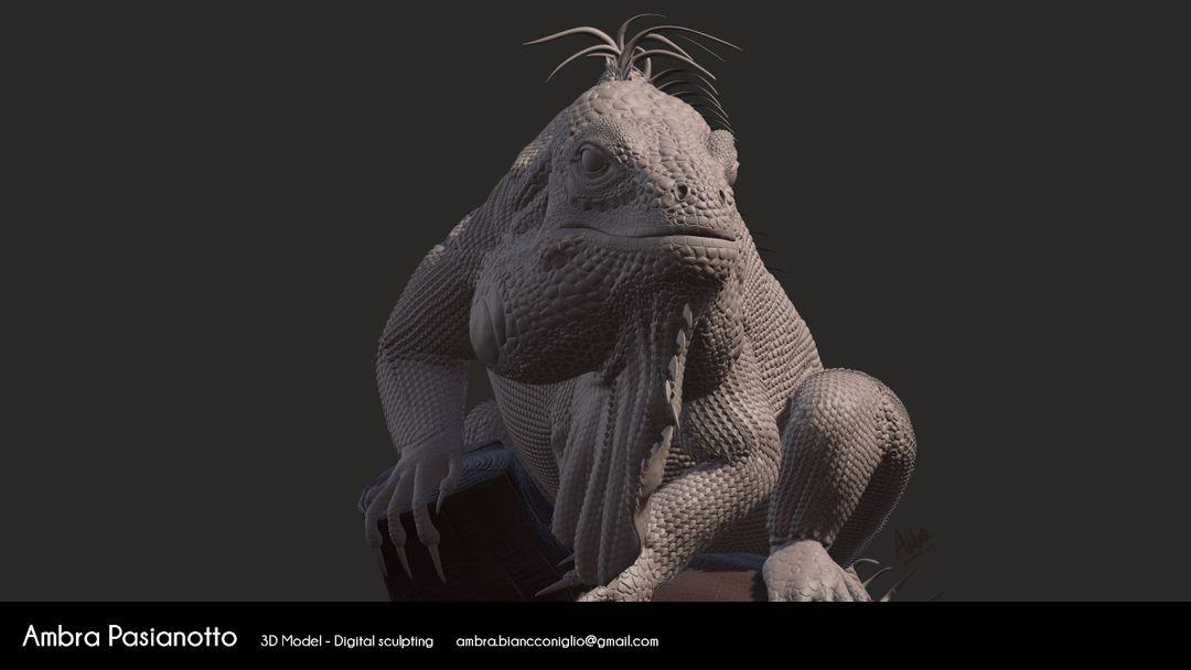 Iguana - realistic project 05 1 jpg