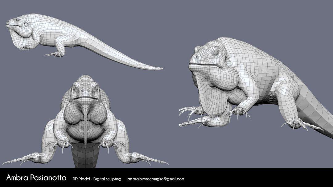 Iguana - realistic project 08 jpg