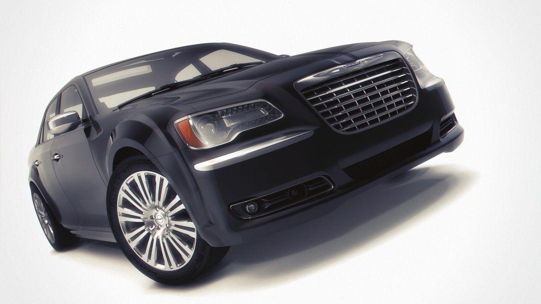 Automotive 3D Modeling and Rendering CHRYSLER 300s front postV2 jpg