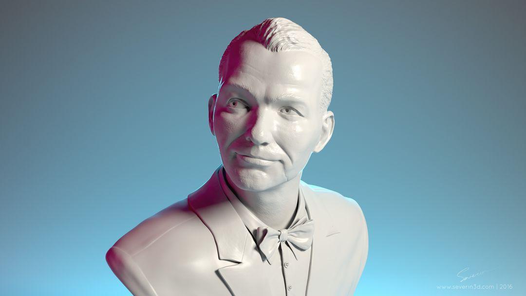3d Sculpting Frank Sinatra bust 3d render signature jpg
