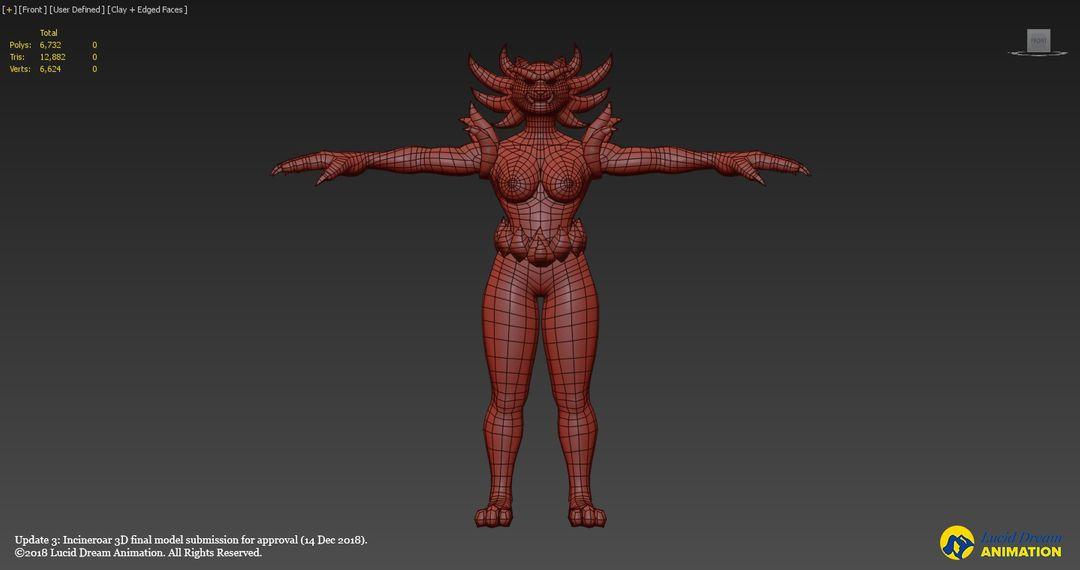 Low Poly 3D Incineroar model incineroar update3 08 jpg