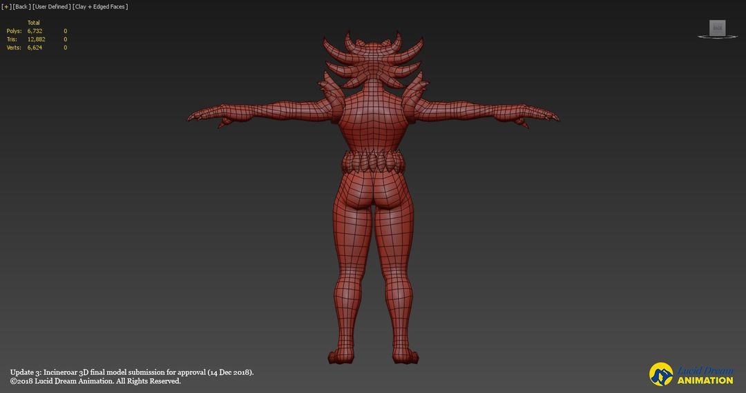 Low Poly 3D Incineroar model incineroar update3 10 jpg