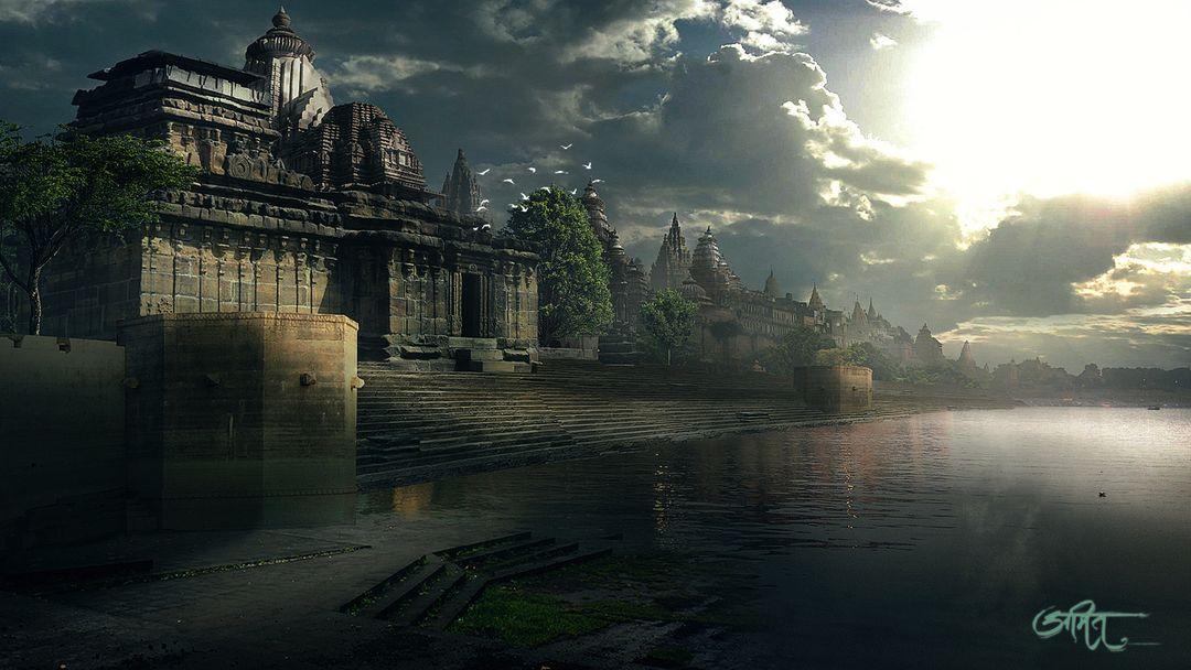 Digital Matte Painter/ Concept Artist amit nitore ganga ghat finel jpg