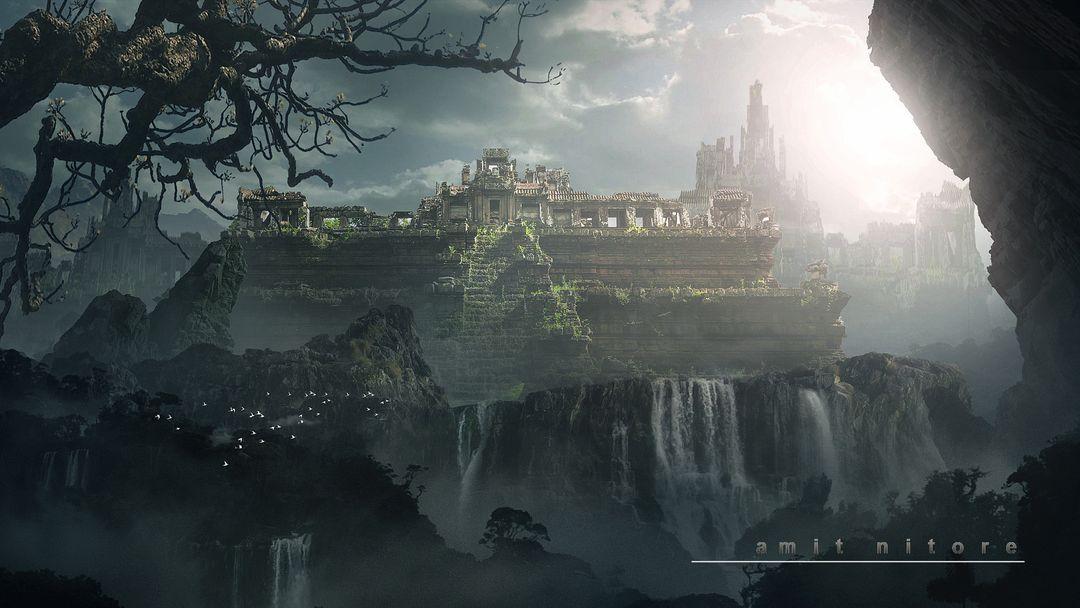 Digital Matte Painter/ Concept Artist amit nitore ruin temple 1 jpg