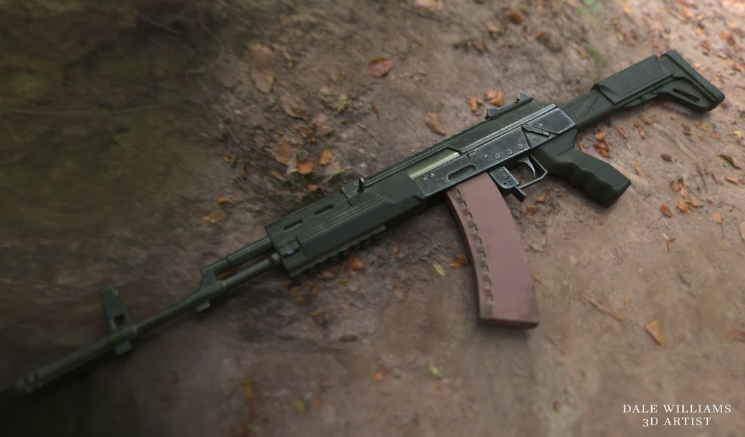 Create and Texture a Weapon with PBR Textures dale williams ak12 01 jpg