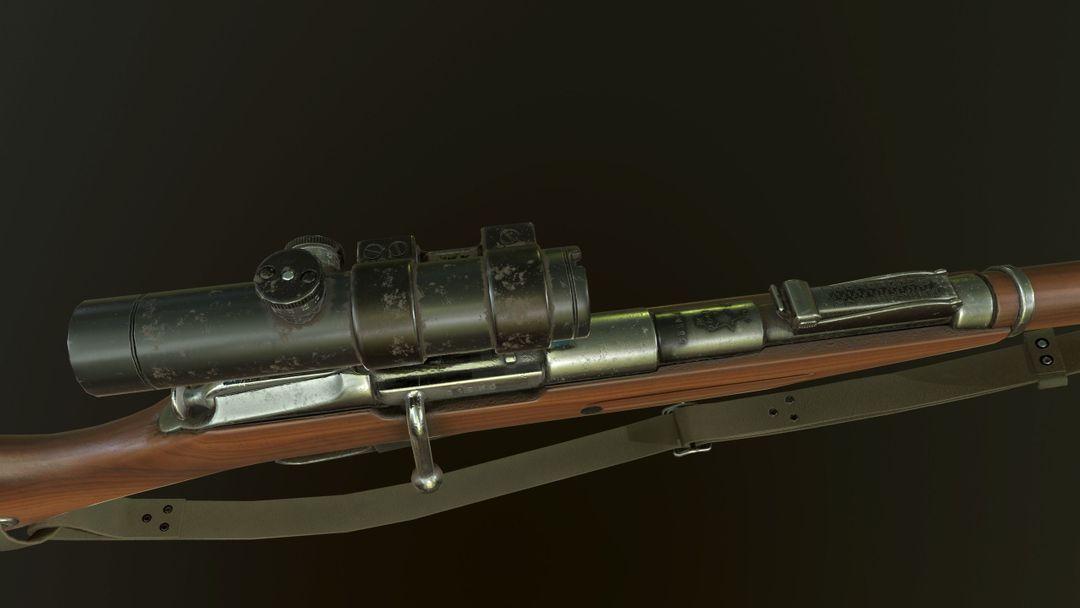 Mosin Nagant M91 Game Ready PBR Textures mosin nagant m91 3d model low poly fbx 12 jpg