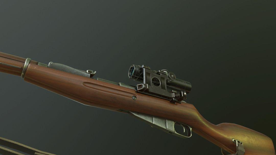 Mosin Nagant M91 Game Ready PBR Textures mosin nagant m91 3d model low poly fbx 3 jpg