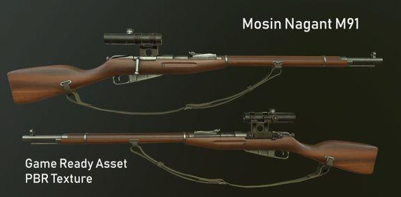 Mosin Nagant M91 Game Ready PBR Textures
