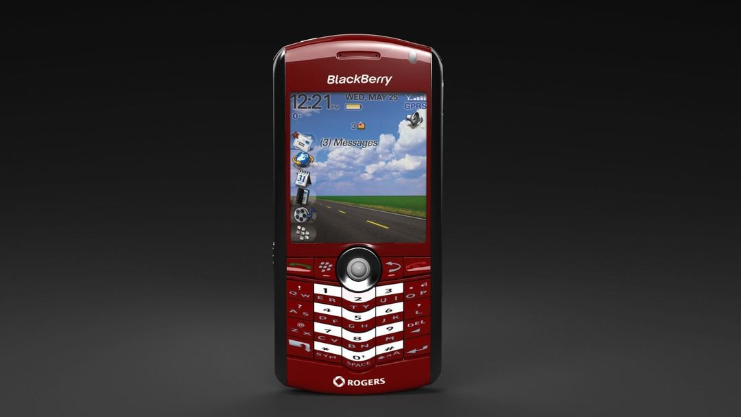 BlackBerry Rogers Pearl 8100 Cellphone blackberry rogers pearl 8100 cellphone 3d model max obj fbx 1 jpg