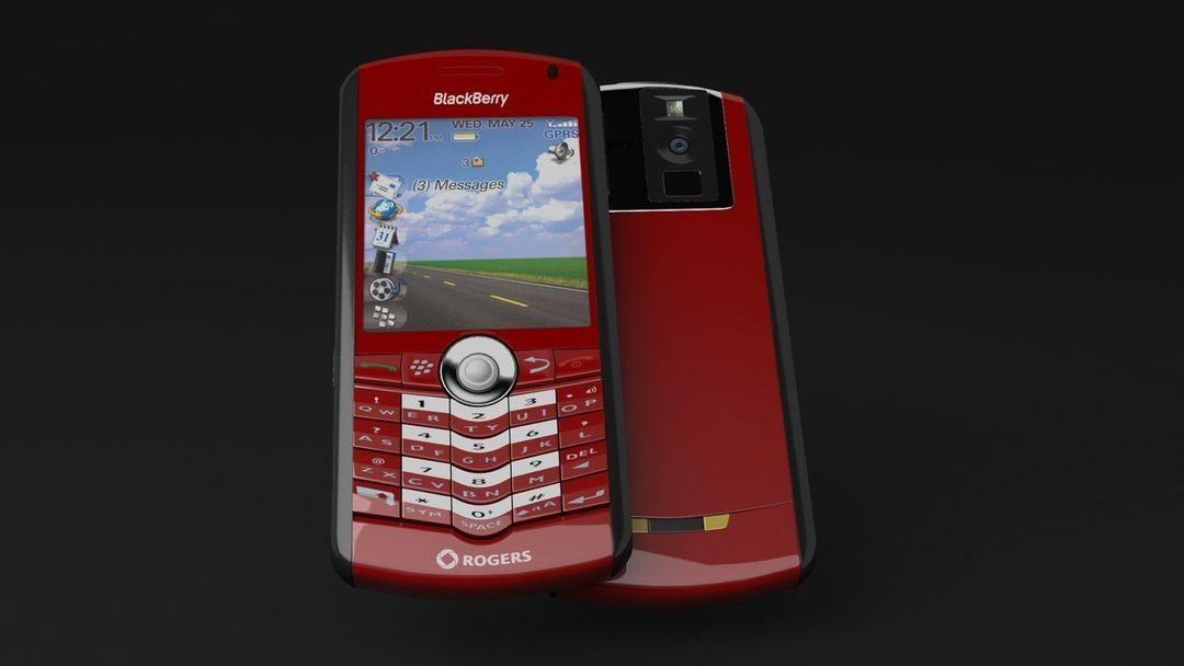 BlackBerry Rogers Pearl 8100 Cellphone blackberry rogers pearl 8100 cellphone 3d model max obj fbx jpg
