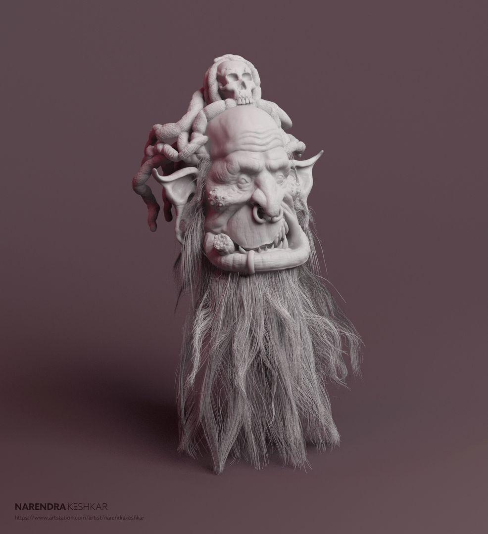 Old Orc Sculpt narendra keshkar orc render 2 jpg