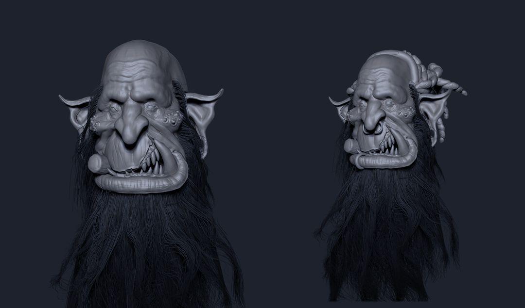 Old Orc Sculpt narendra keshkar orc wip 3 jpg
