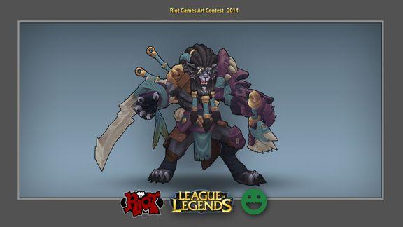 Rengar, Custom Skin - League of Legends, Riot Games