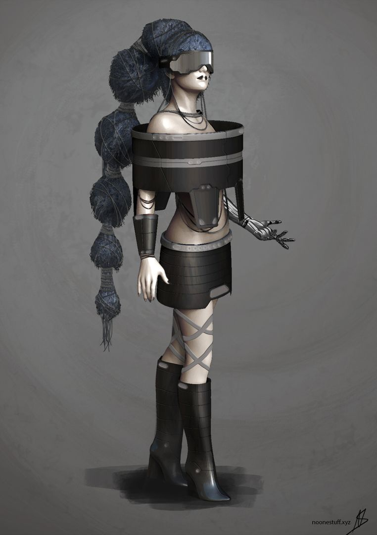 Character Concept Design - Sci Fi Royalty Char 1 jpg