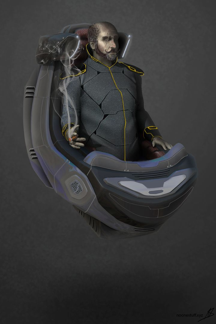 Character Concept Design - Sci Fi Royalty Char 3 jpg