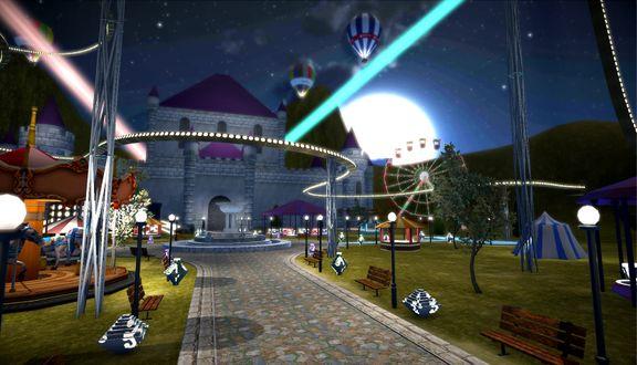 Theme Park Game Environment