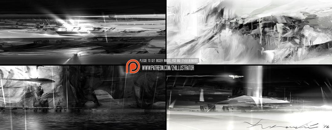 Thumbnail designs, greyscale. collage 02 1920 jpg