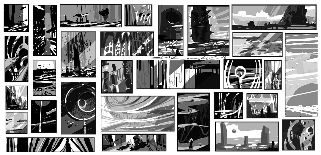Thumbnail designs, greyscale. thumbs 002 1680 jpg
