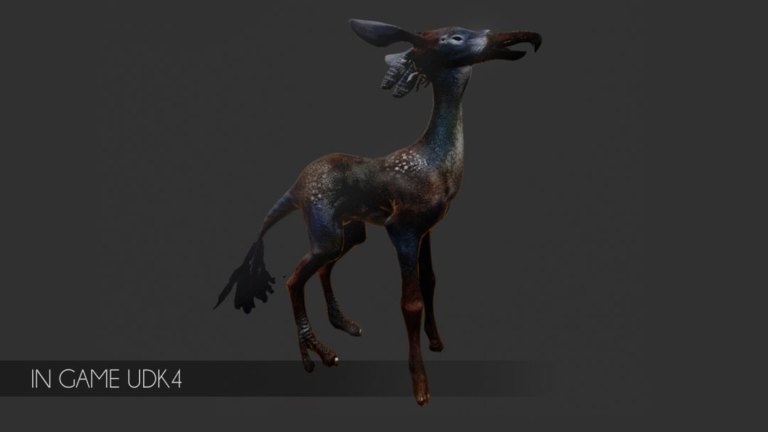 3D Modeling (game project) mount creature jpg