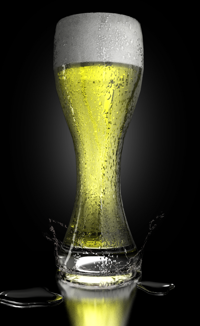 Product Rendering beer glass png