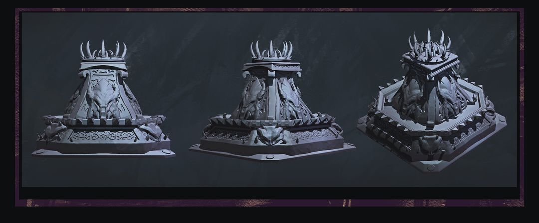 Modelling/Sculpting Props and Environment maxime delcambre fountain jpg