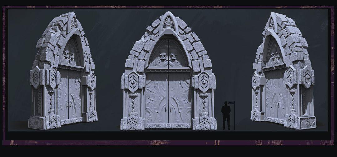 Modelling/Sculpting Props and Environment maxime delcambre maindoor jpg