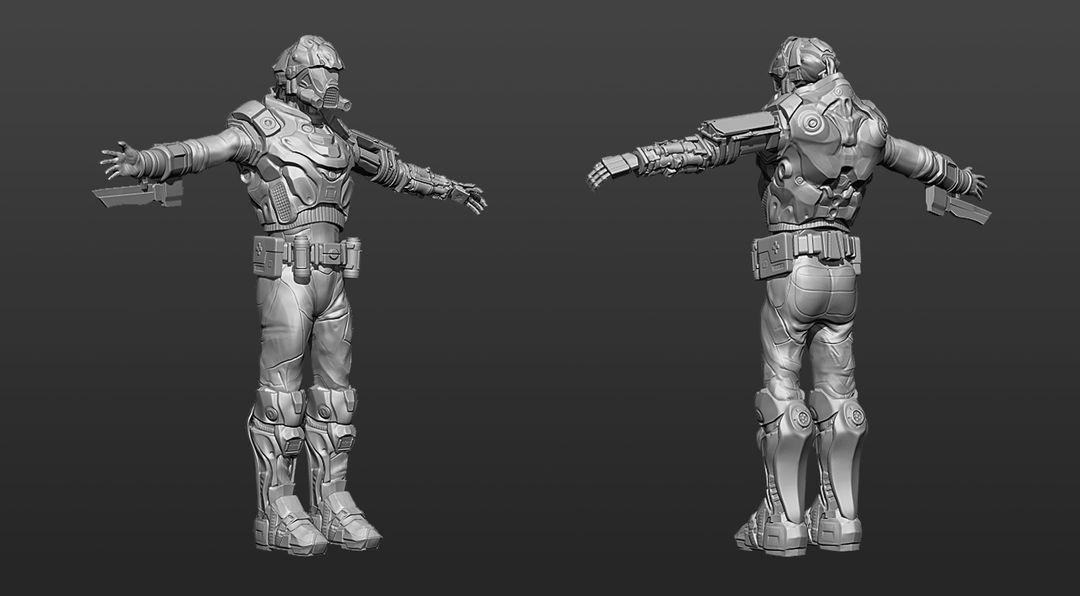 Modelling/Sculpting Realistic or Cartoon Characters maxime delcambre rendu tpose2 zbrush maxime delcambre jpg