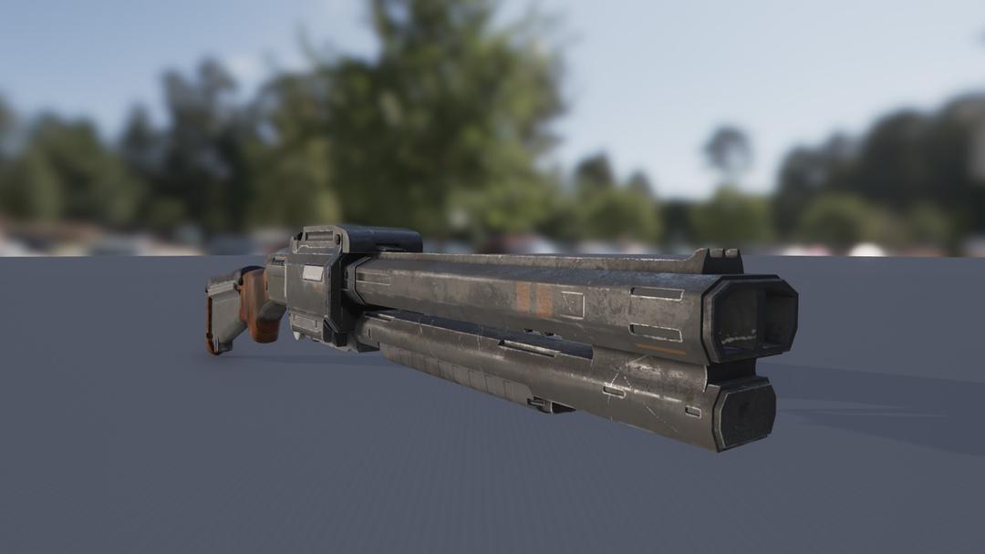 Weapon Modelling scifi shotgun screenshot 2 png