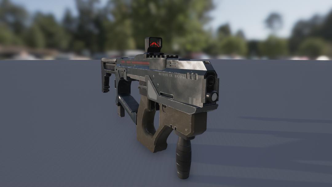 Weapon Modelling scifi uzi screenshot 2 png