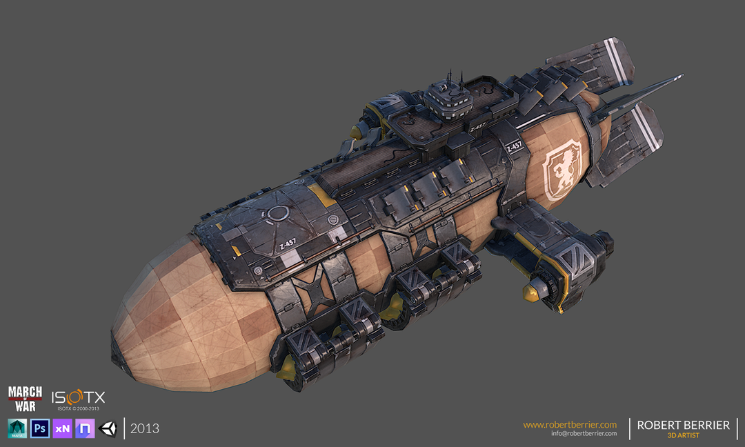PBR Triple-A Game or VR modelling RobertBerrier 2013 MoW WarZeppelin 01 Logo png