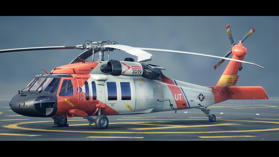 Helicopter UH-60 | Real-Time Render Unreal Engine 4 01 Helicopter UH60 MaxEmskiCom png