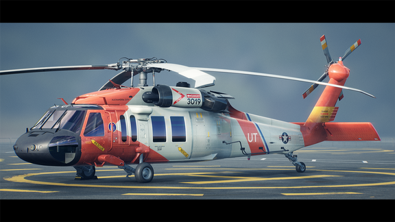 Helicopter UH-60   Real-Time Render Unreal Engine 4