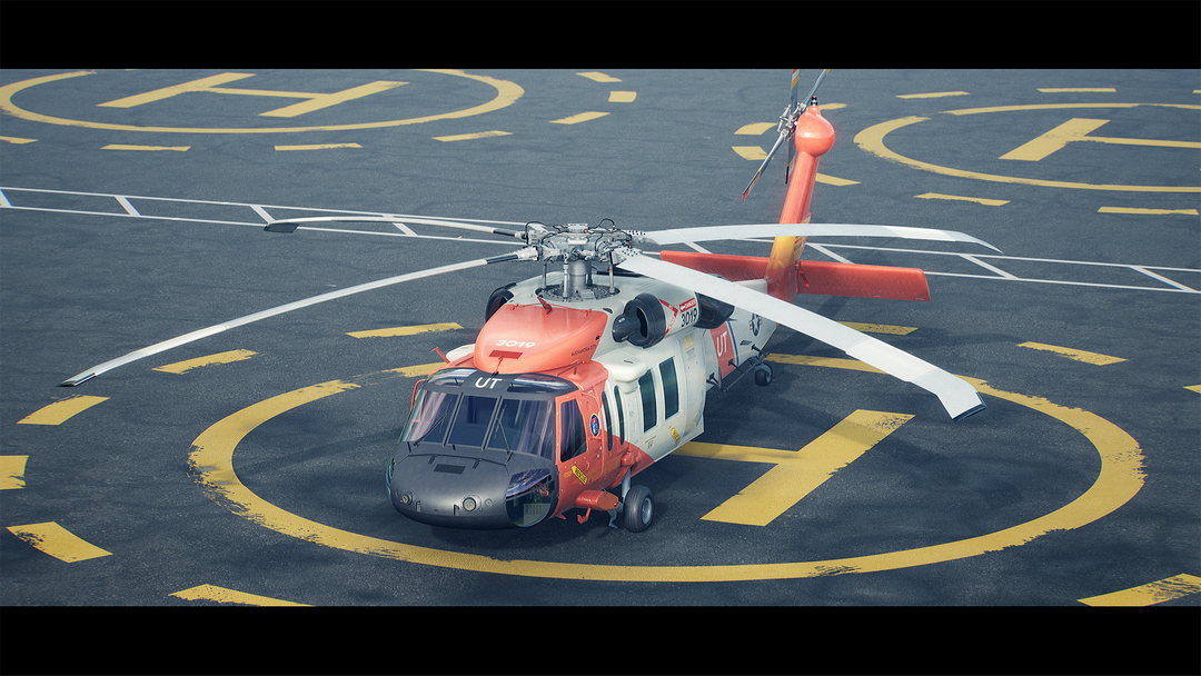 Helicopter UH-60 | Real-Time Render Unreal Engine 4 02 Helicopter UH60 MaxEmskiCom png