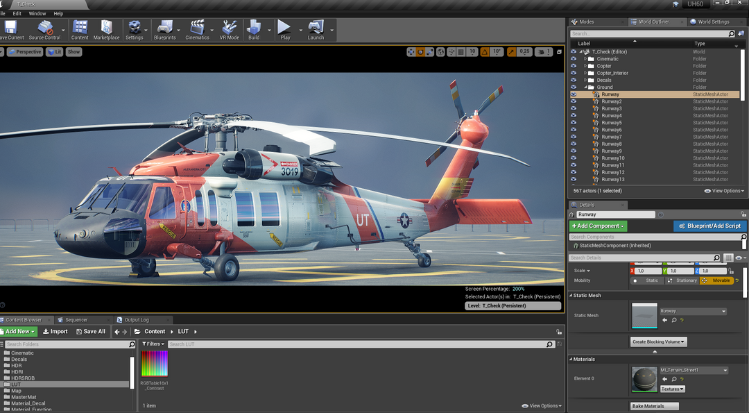 Helicopter UH-60 | Real-Time Render Unreal Engine 4 07 Helicopter UH60 MaxEmskiCom png