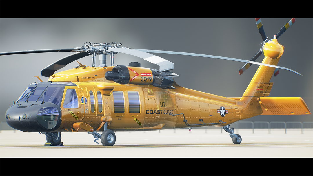 Helicopter UH-60 | Real-Time Render Unreal Engine 4 08 Helicopter UH60 MaxEmskiCom png